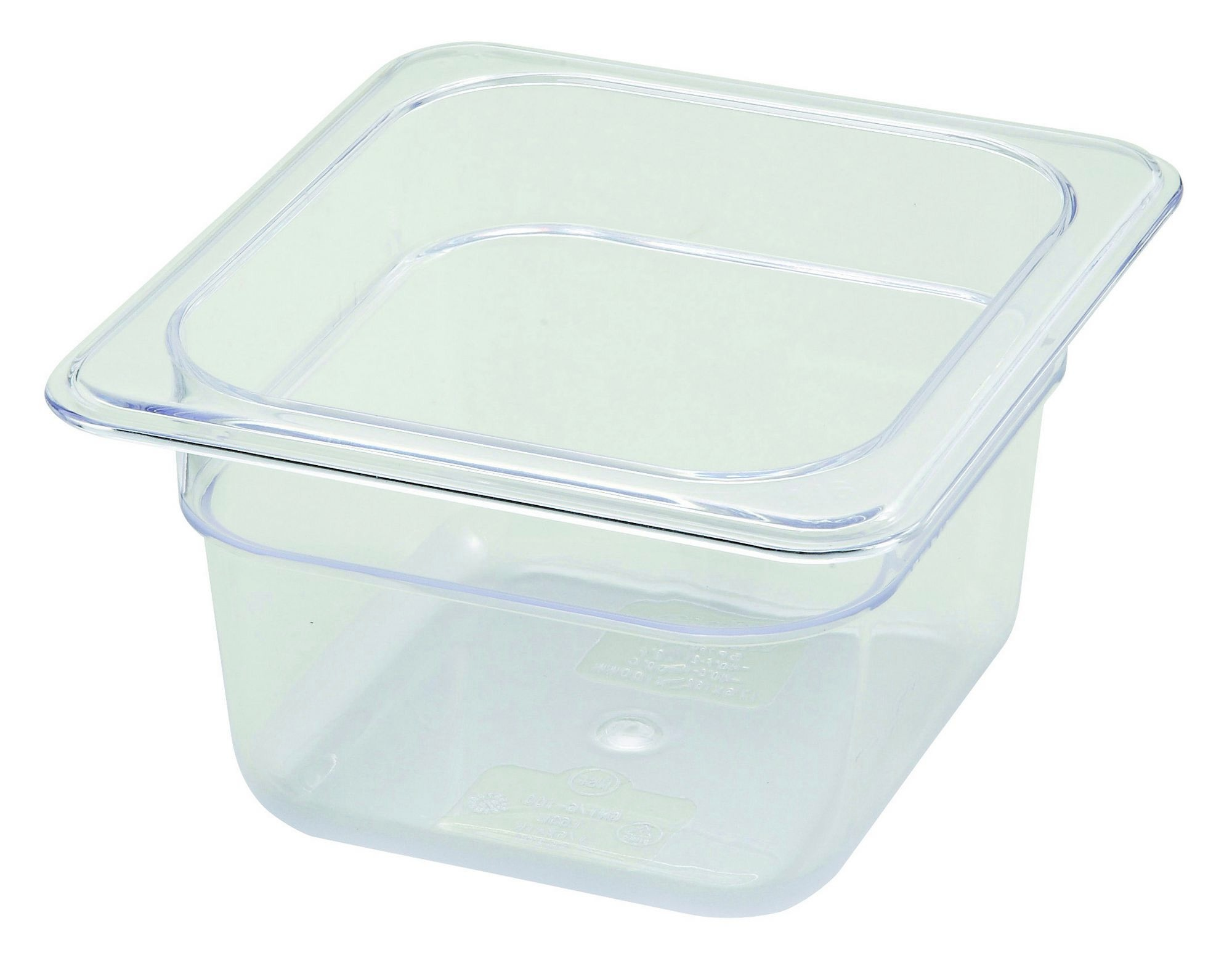 "Winco SP7604 Poly-Ware 1/6 Size Food Pan 4"" Deep"