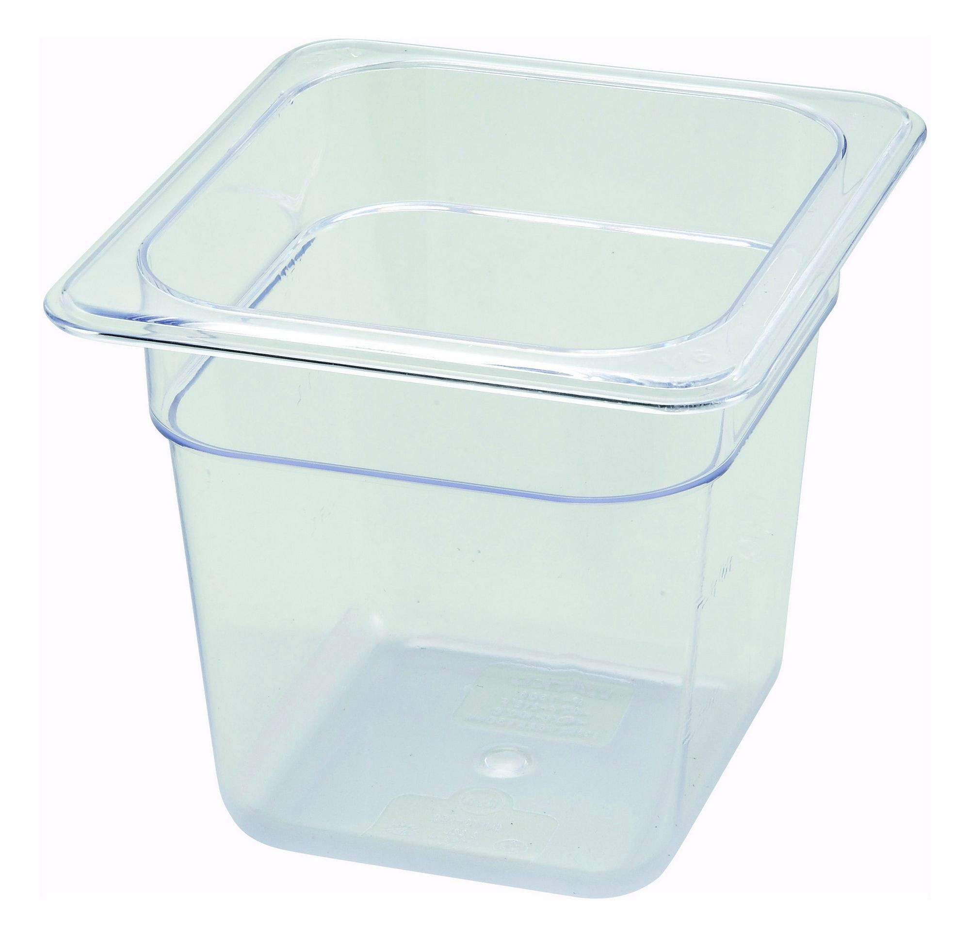 Polycarbonate NSF One-Sixth Size Food Pan - 6 Deep