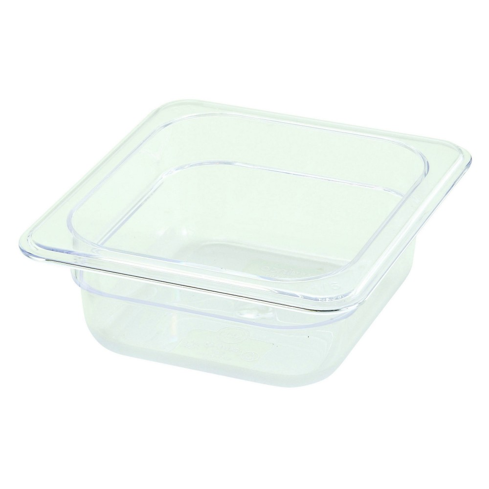 Polycarbonate NSF One-Sixth Size Food Pan - 2-1/2 Deep