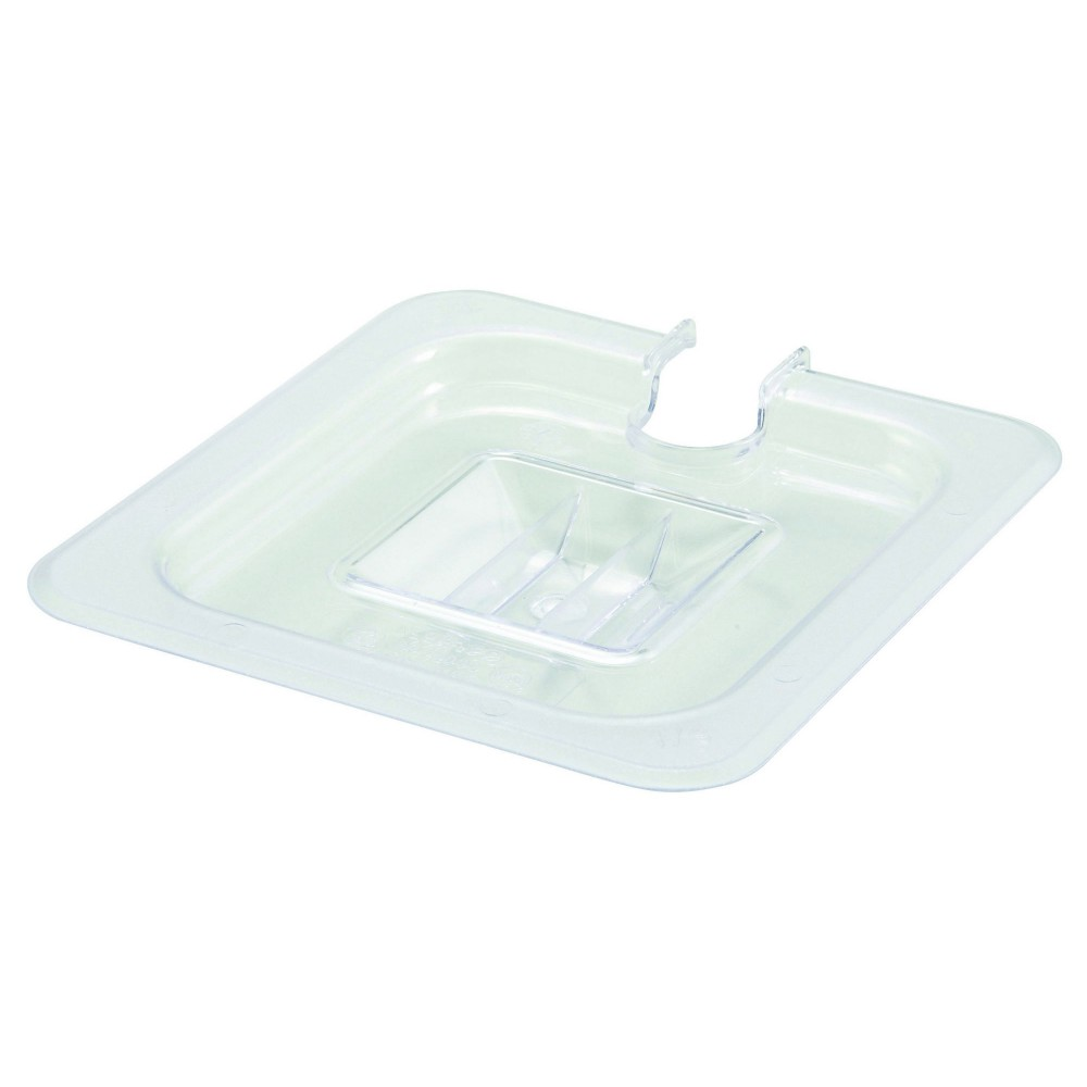 Polycarbonate NSF One-Sixth Size Food Pan Slotted Cover