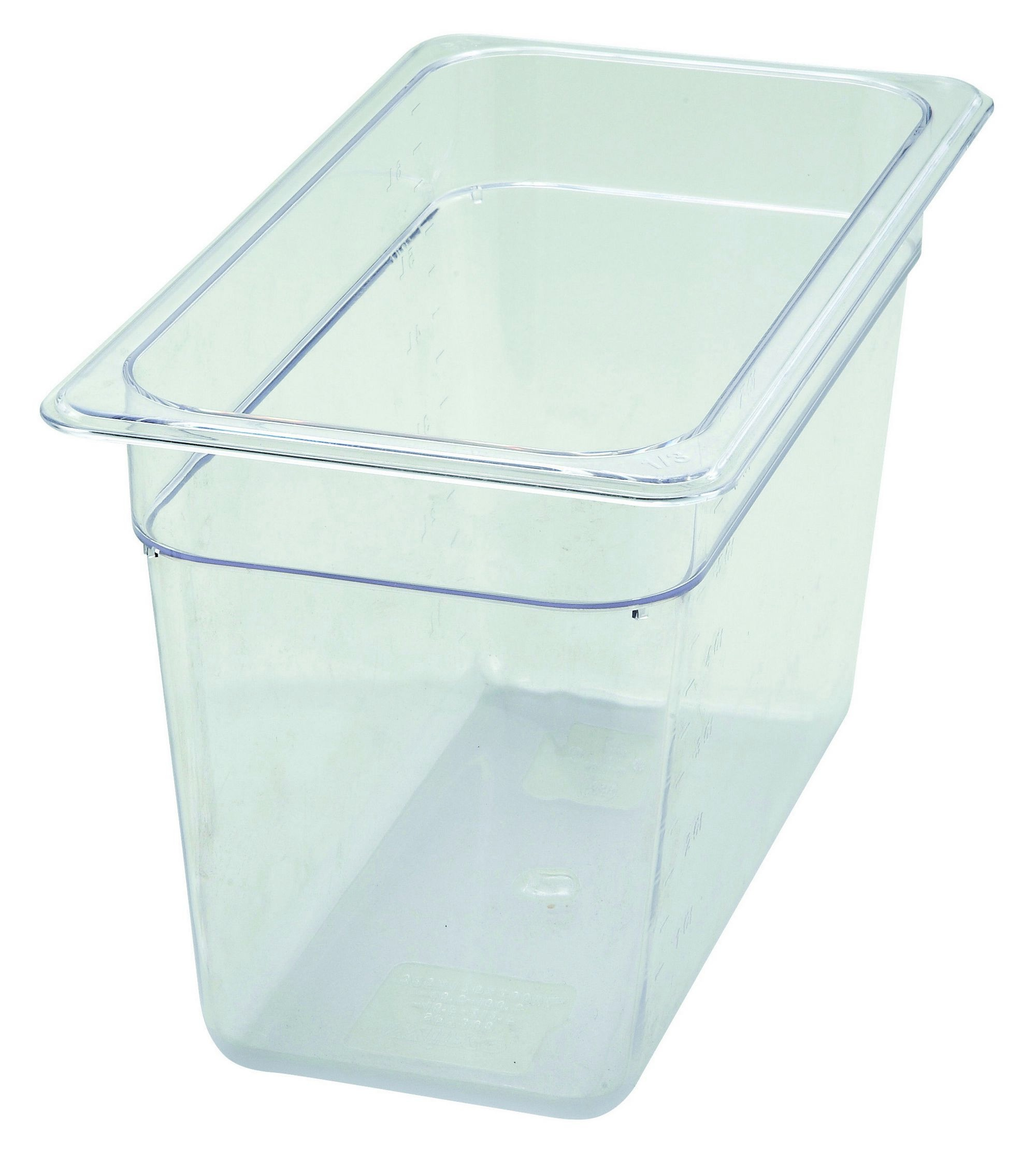 Polycarbonate NSF One-Third Size Food Pan - 8 Deep
