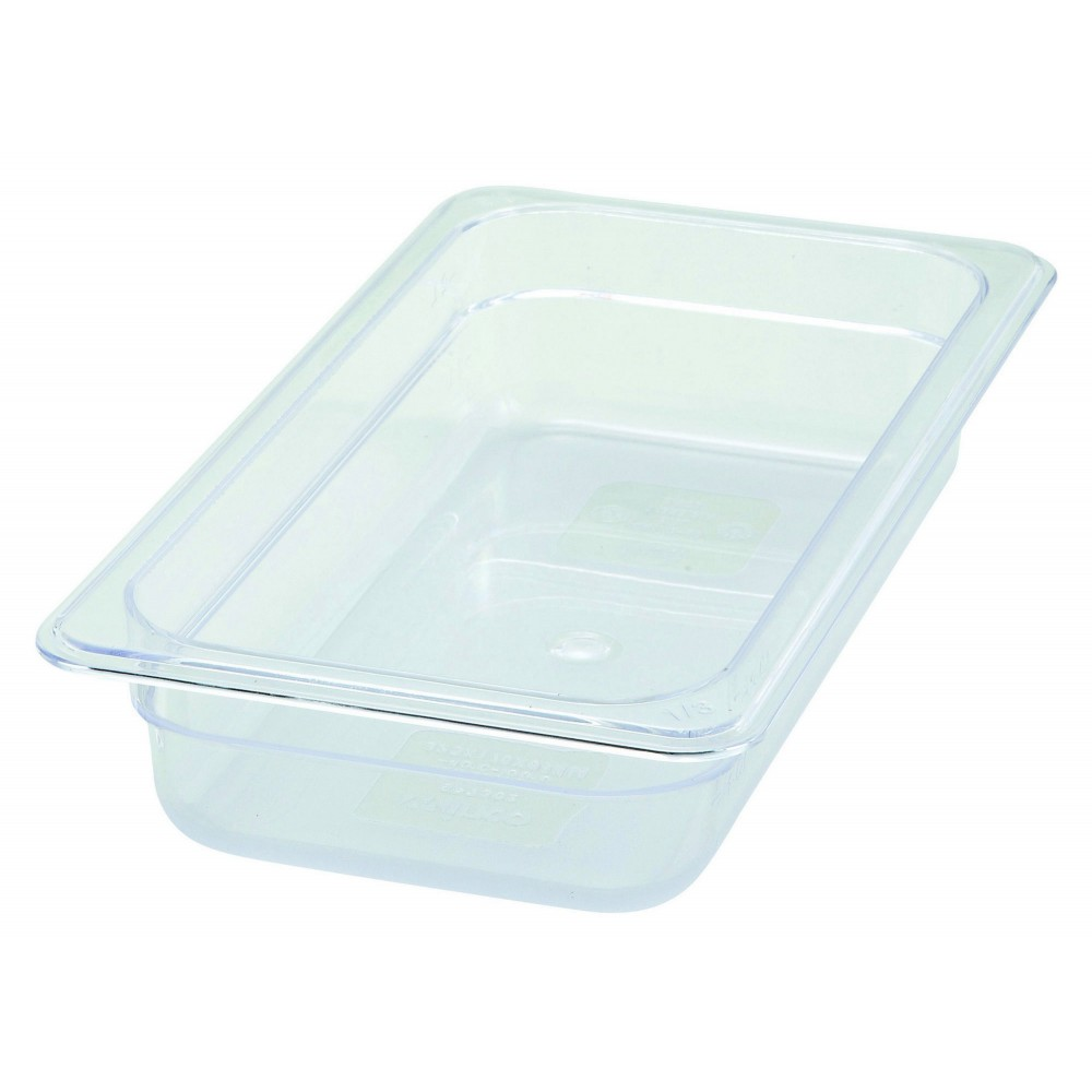 "Winco SP7302 Poly-Ware 1/3 Size Food Pan 2-1/2"" Deep"