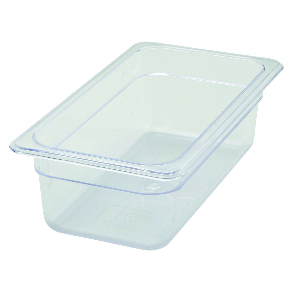 "Winco SP7304 Poly-Ware 1/3 Size Food Pan 4"" Deep"