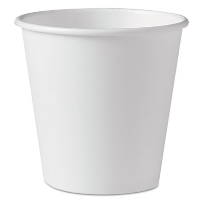 Polycoated Hot Paper Cups, 10 oz, White, 1000/Carton