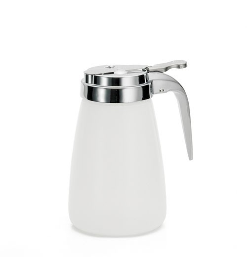 Polyethylene 10 Oz. Dispenser With Chrome-Plated Metal Top