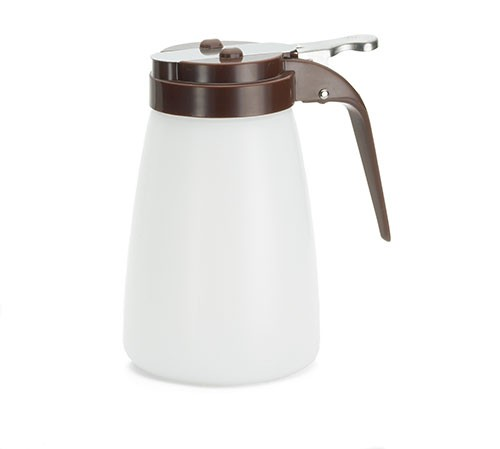 Polyethylene 10 Oz. Dispenser With Brown ABS Top