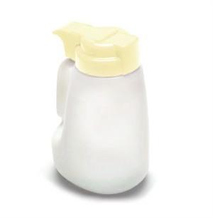 TableCraft MW32BE Polyethylene Option 32 oz. Dispenser with Beige ABS Top