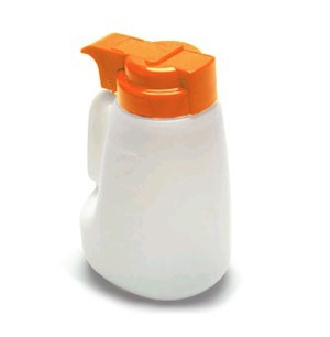 TableCraft MW32X Polyethylene Option 32 oz. Dispenser with Orange ABS Top