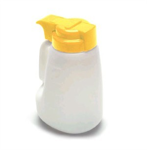 TableCraft MW32Y Polyethylene Option 32 oz. Dispenser with Yellow ABS Top