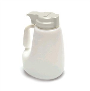 Polyethylene 48 Oz. Liquid Dispenser With Gray ABS Top