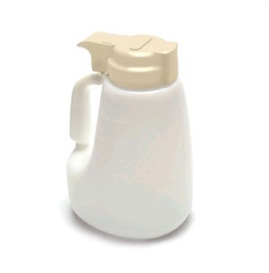 Polyethylene 48 Oz. Liquid Dispenser With Beige ABS Top