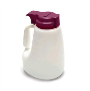 Polyethylene 48 Oz. Liquid Dispenser With Maroon ABS Top