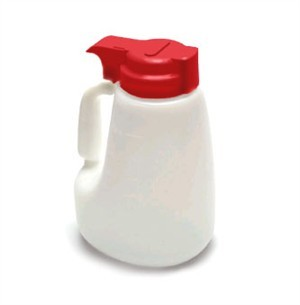 Polyethylene 48 Oz. Liquid Dispenser With Red ABS Top