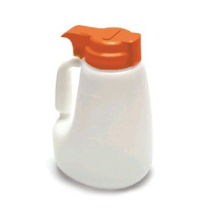Polyethylene 48 Oz. Liquid Dispenser With Orange ABS Top