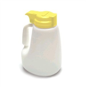 Polyethylene 48 Oz. Liquid Dispenser With Yellow ABS Top
