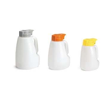 Polyethylene 64 Oz. Liquid Dispenser With Gray ABS Top