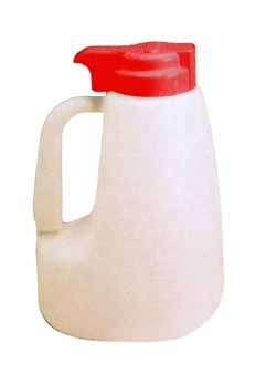 Polyethylene 64 Oz. Liquid Dispenser With Red ABS Top