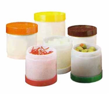 Polyethylene Pint Backup Unit With Assorted Cap For Pour Master