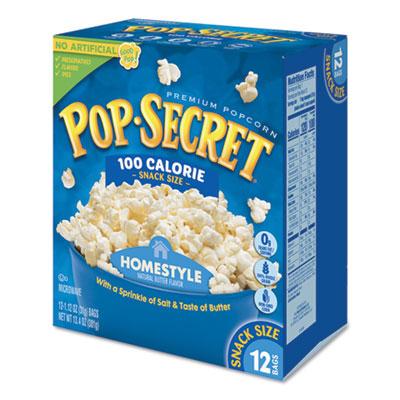 Pop Secret Microwave Popcorn, Homestyle, 1.2 oz Bags, 12/Box