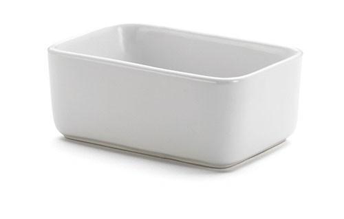 """TableCraft P56 White Porcelain Sugar Packet Holder, 4"""" x 2-3/4"""" x 1-1/2"""""""