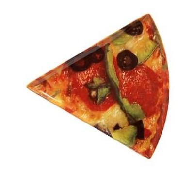 """G.E.T. Enterprises PZ-86-PZ Creative Table Melamine Triangle Pizza Plate 10-1/4"""" x 9"""""""