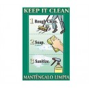 Franklin Machine Products  142-1502 Poster, Keep It Clean