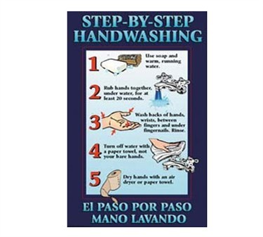Franklin Machine Products  142-1497 Poster,Step By Step Handwashng