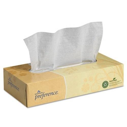 Preference 2-Ply Facial Tissue, Flat Box, 100 Sheets/Box, 30 Boxes/Carton