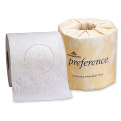 Preference Embossed Toilet Tissue, 2-Ply, White