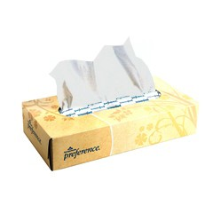 Preference Facial Tissue, Flat Box, White, 2-Ply, 100 Sheets/Box
