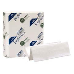 Preference Multifold Paper Towels, 9 1/5 x 9 2/5, White, 250/Pack