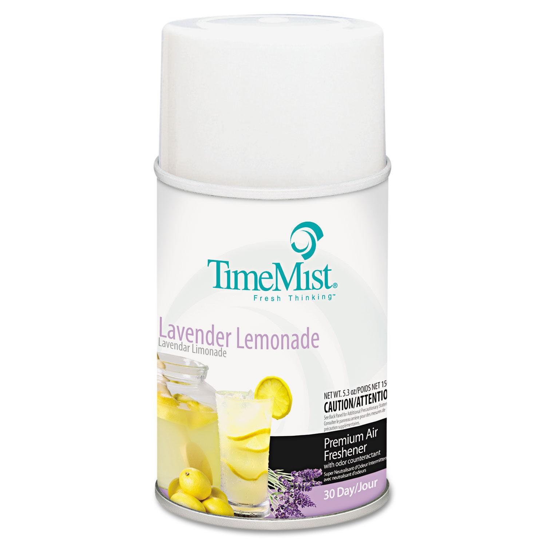TimeMist Metered Fragrance Dispenser Refills, Lemonade Lavender, 6.6 oz. Aerosol
