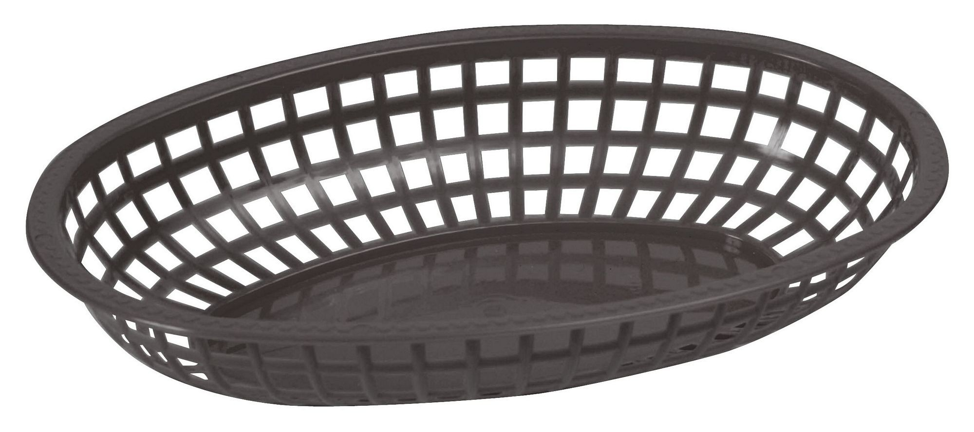 Premium Oval Basket - Tuxedo Black