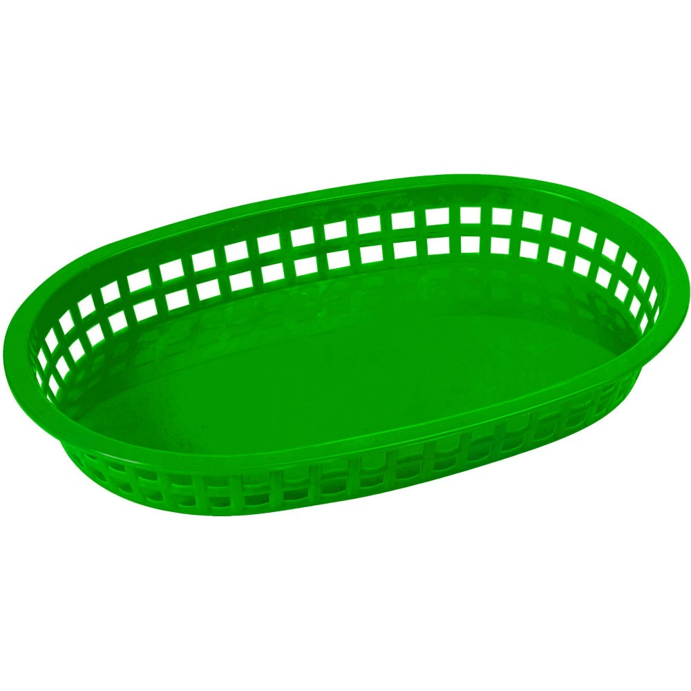 Premium Oval Platter Basket - Shining Green