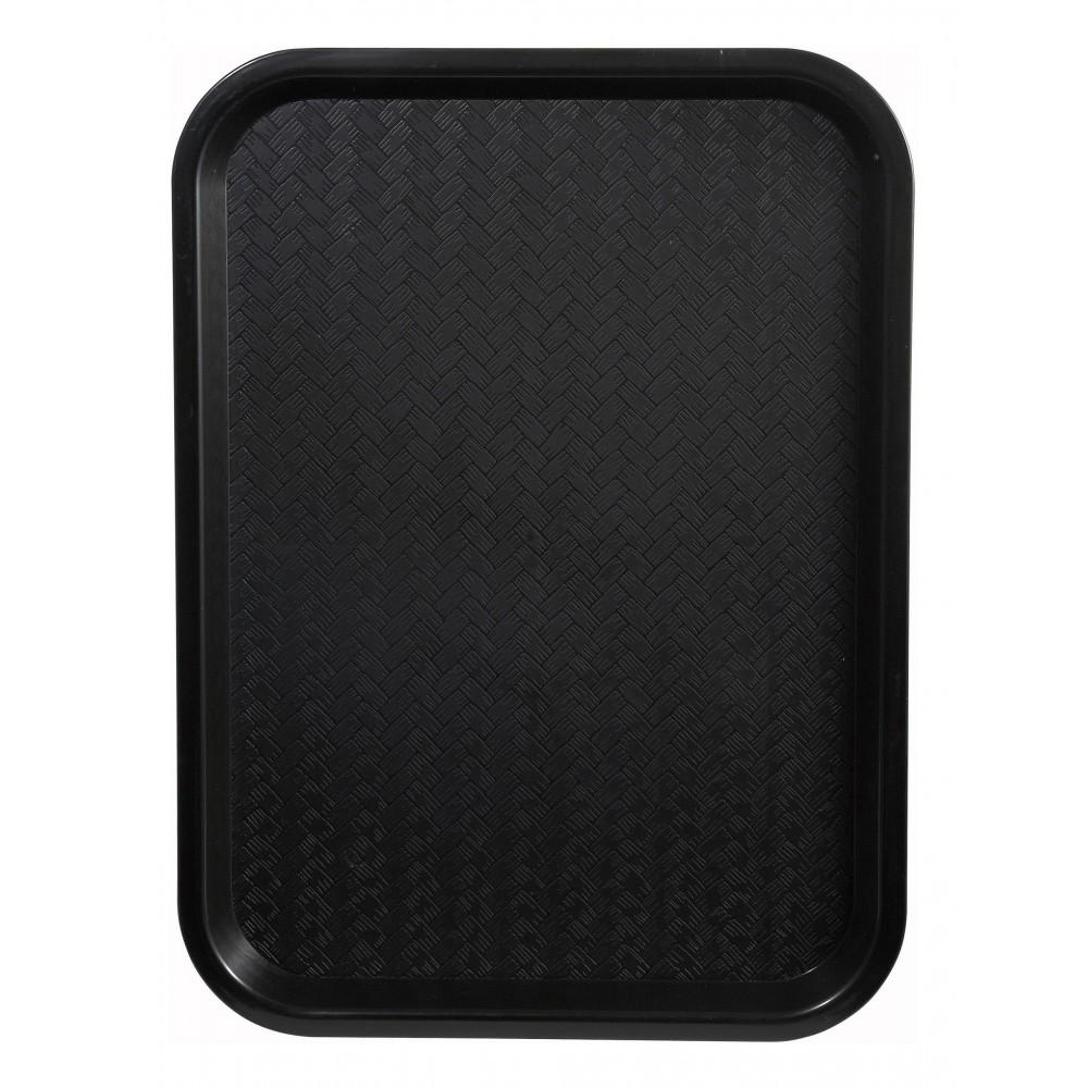 Premium Plastic Fast Food Tray 12 x 16 (Black)