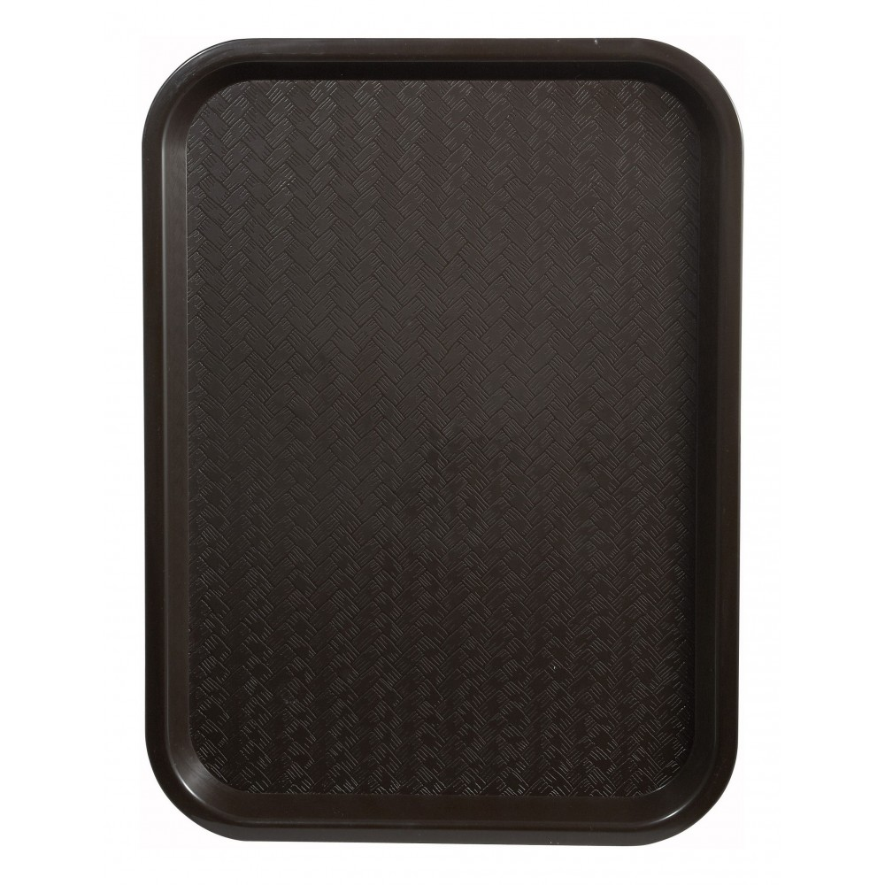 Premium Plastic Fast Food Tray 12 x 16 (Brown)