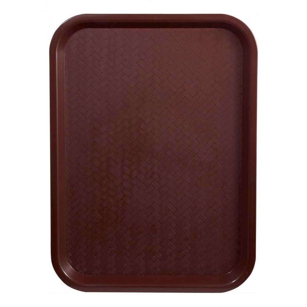 """Winco FFT-1216U Burgundy Plastic Fast Food Tray 12"""" x 16"""""""