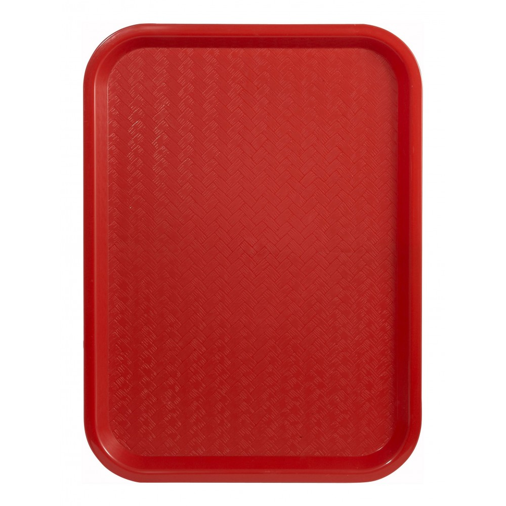 Premium Plastic Fast Food Tray 12 x 16 (Red)