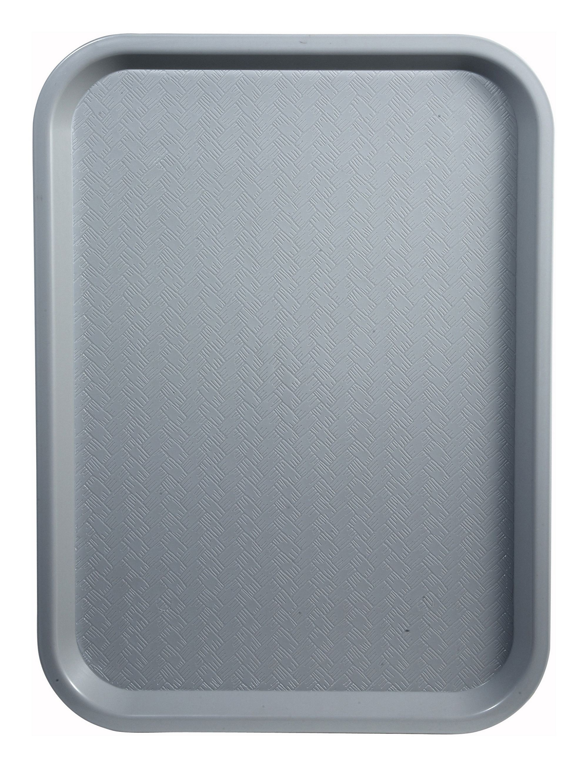 "Winco FFT-1014E Grey Plastic Fast Food Tray 10"" x 14"""