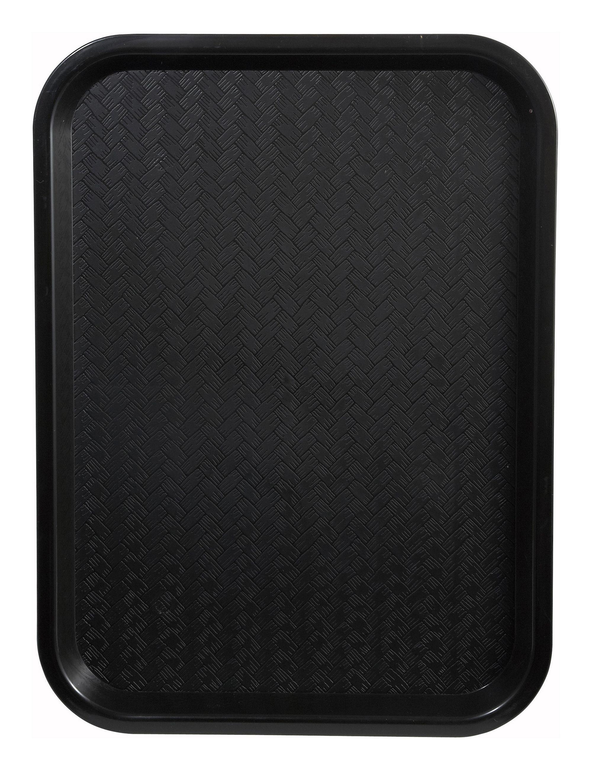"Winco FFT-1014K Black Plastic Fast Food Tray 10"" x 14"""