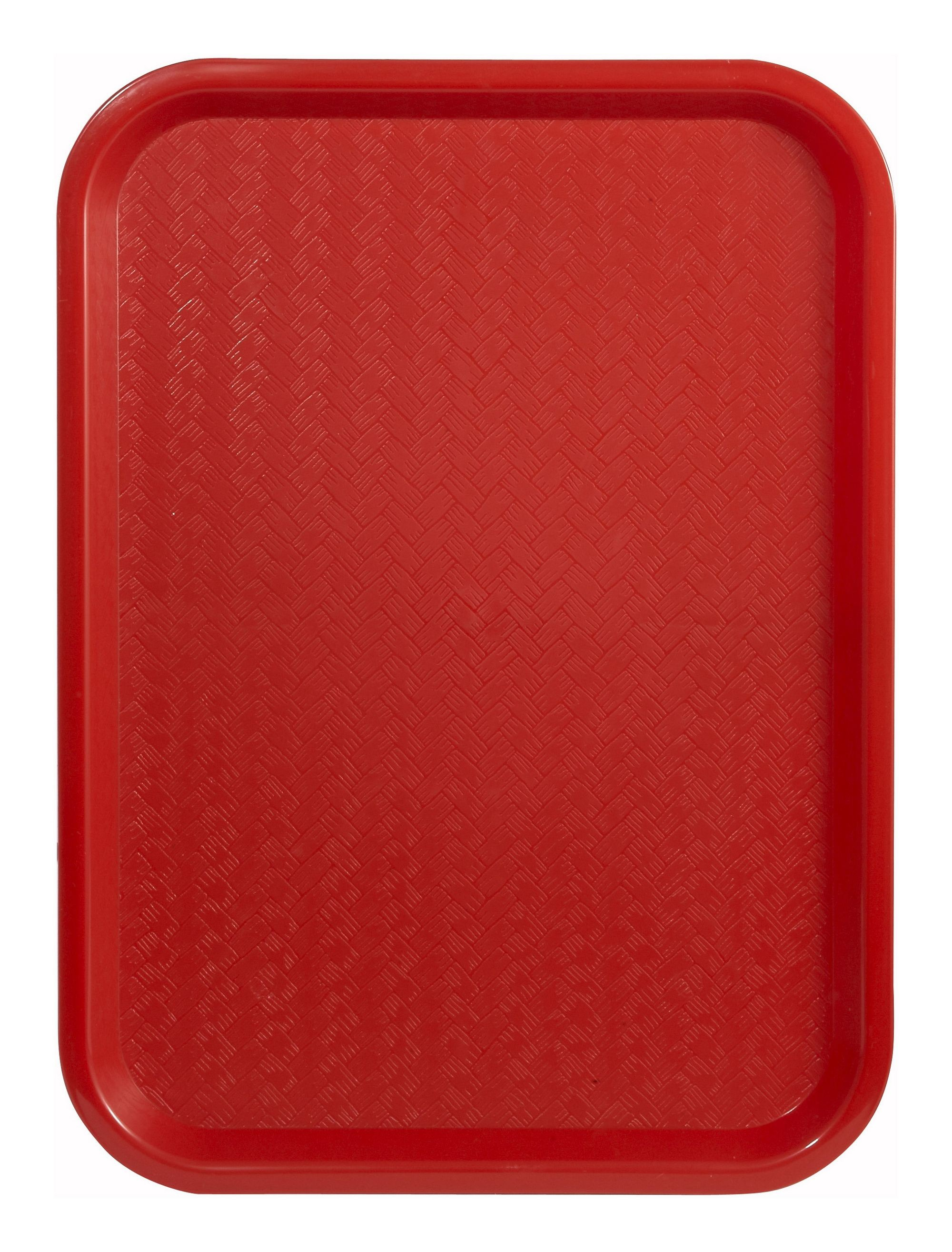 "Winco FFT-1014R Red Plastic Fast Food Tray 10"" x 14"""