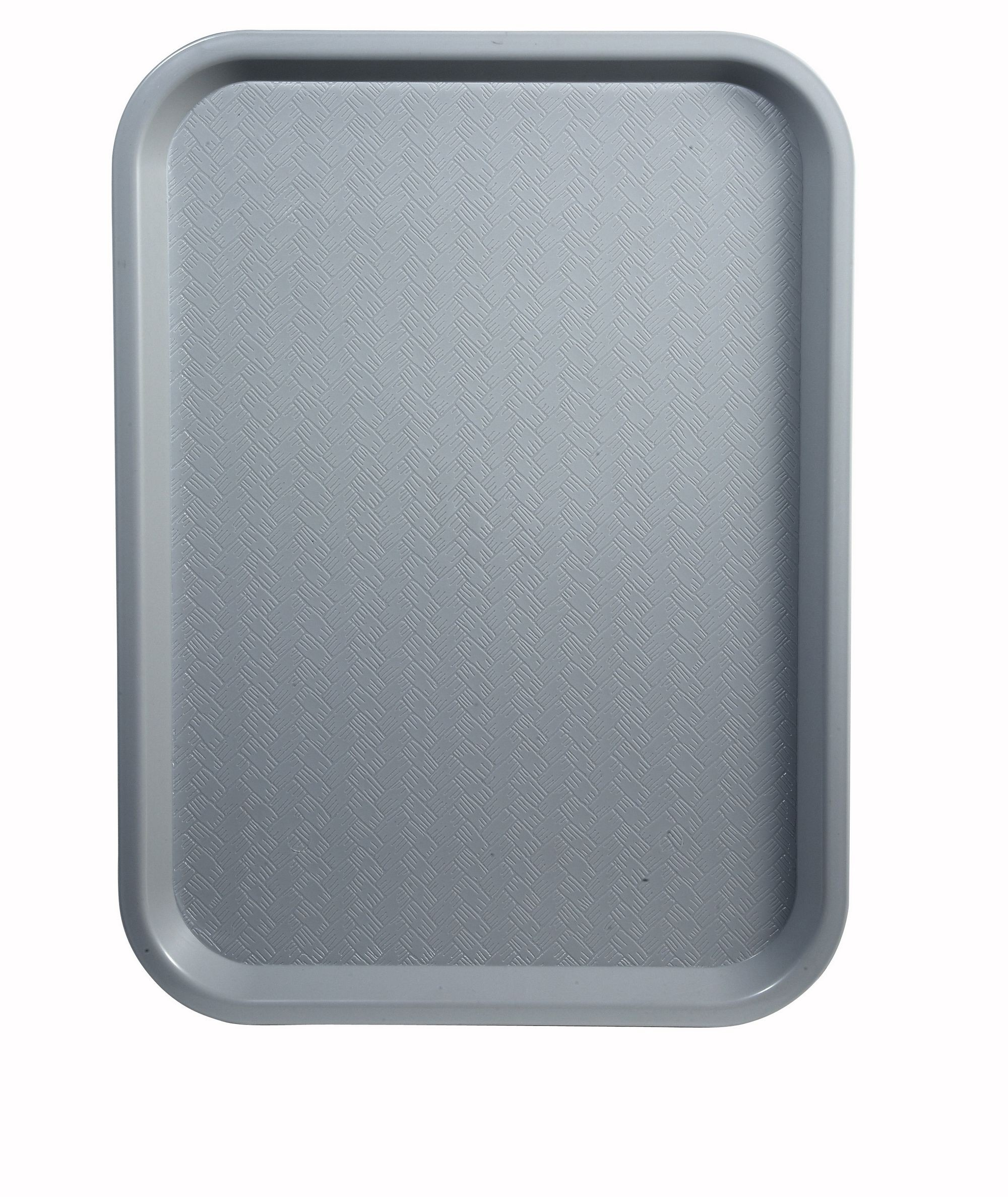 "Winco FFT-1216E Grey Plastic Fast Food Tray 12"" x 16"""