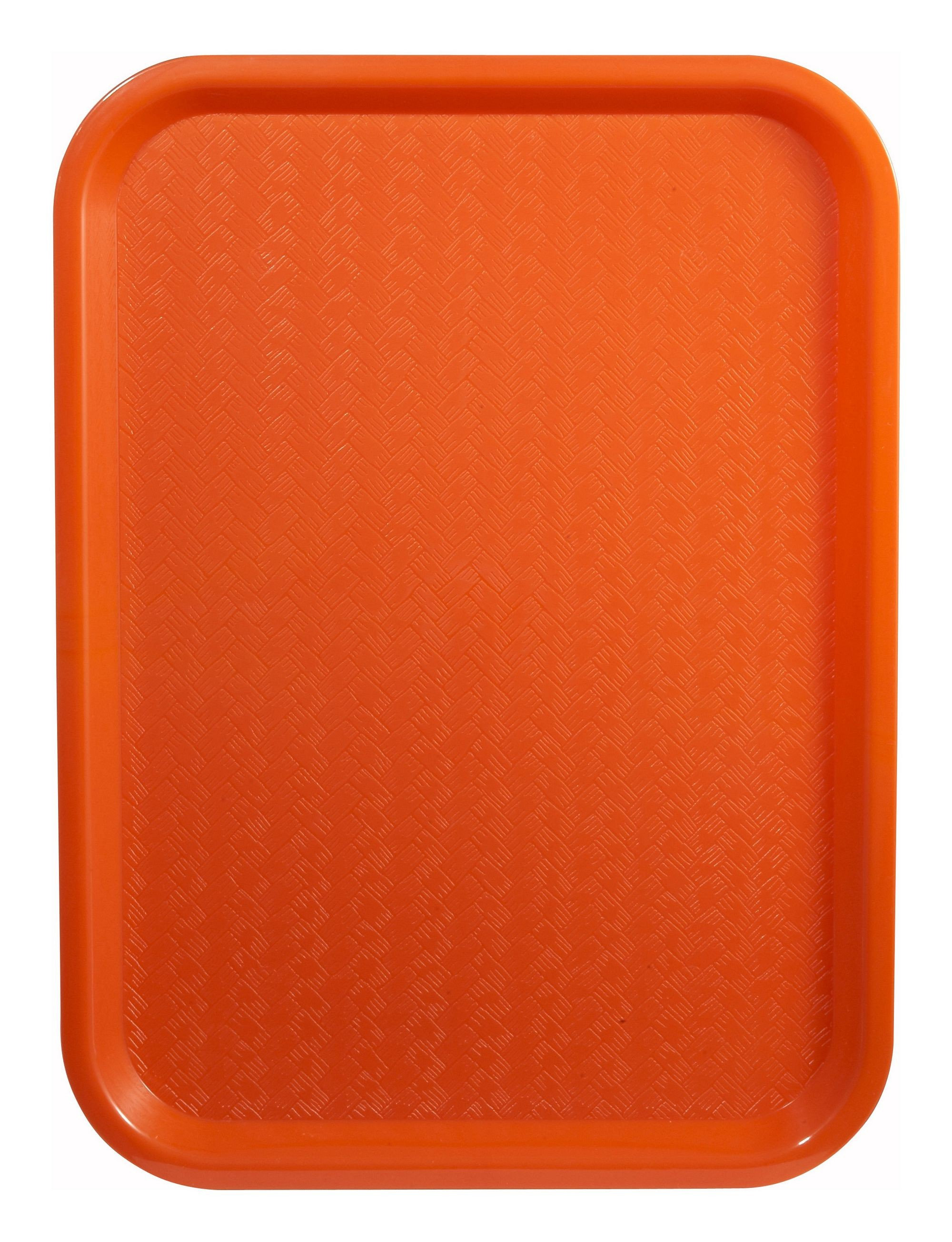 "Winco FFT-1216O Orange Plastic Fast Food Tray 12"" X 16"