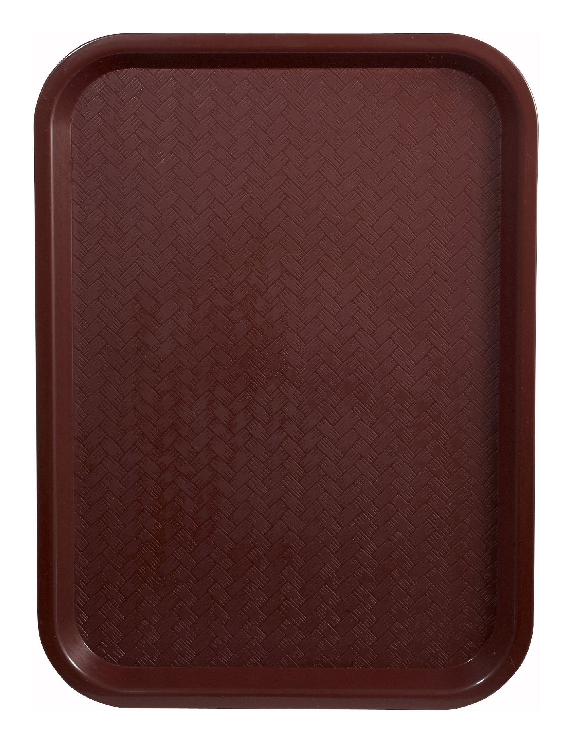 "Winco FFT-1216U Burgundy Plastic Fast Food Tray 12"" x 16"""