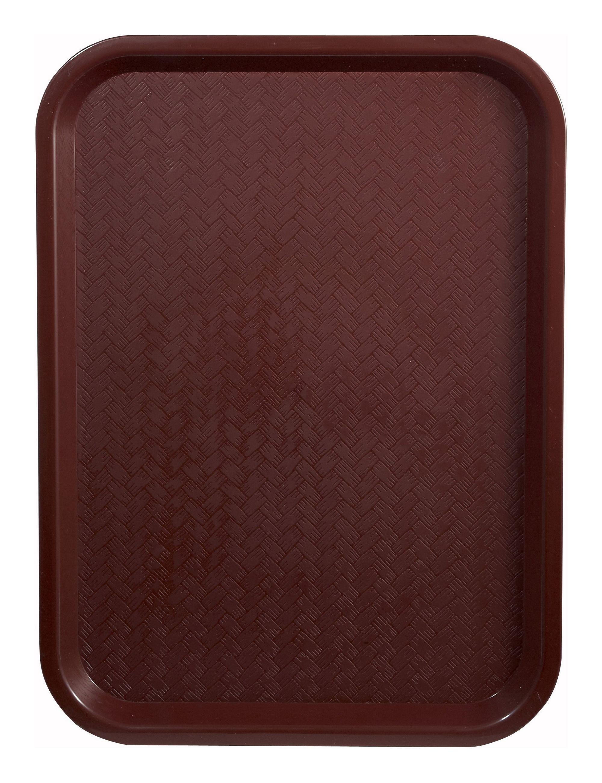 """Winco FFT-1216U Burgundy Plastic Fast Food Tray 12"""" X 16"""