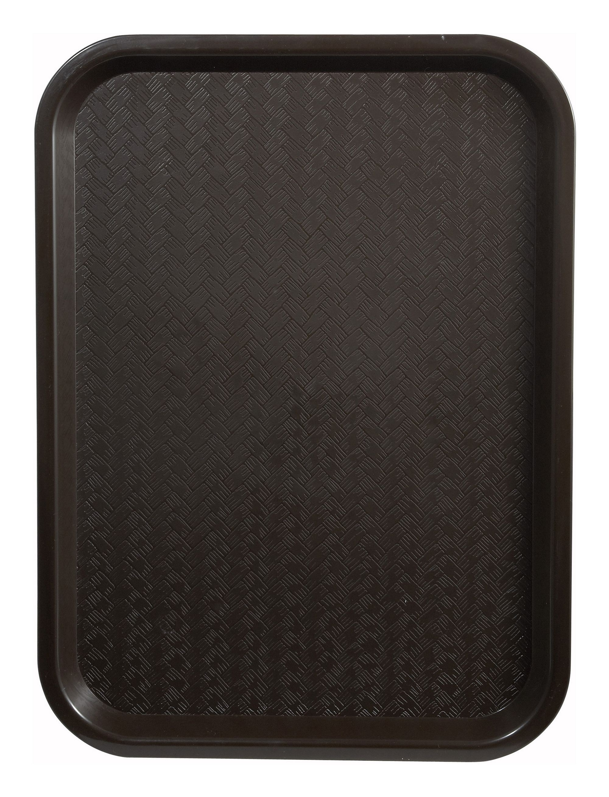 "Winco FFT-1418B Brown Plastic Fast Food Tray 14"" x 18"""