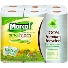 Premium Recycled Giant Roll Towels, 11 x 5 7/10, White, 140/Roll