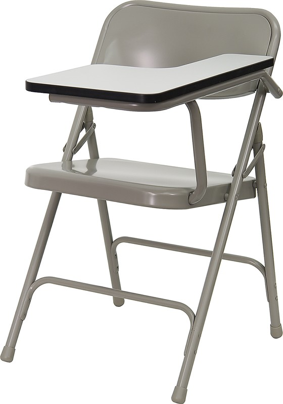 Flash Furniture HF-309AST-LFT-GG Premium Steel Folding Chair with High Pressure Tablet Arm