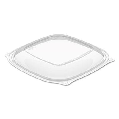 PresentaBowls Pro Square Lids f/24-32oz Bowls, Clear, 8.5x8.5, 63/Bag, 4 Bag/CT