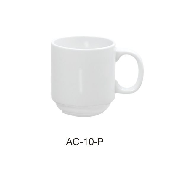 Prime Mug 10 Oz - Bright White Wide Rim China